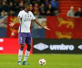 Issa Diop, le 1er octobre 2016 lors du match du TFC à Caen. AFP