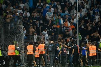 Bagarre générale après Angers-OM. AFP