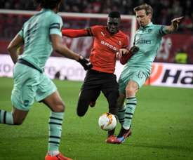 Monreal was unable to handle Sarr's pace. AFP