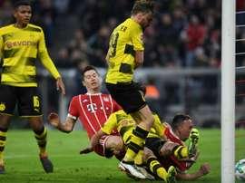 Prováveis escalações de Bayern e Borussia. AFP