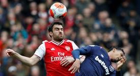 Sokratis deja el Arsenal. AFP
