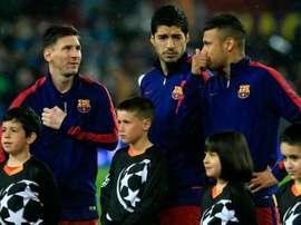 Neymar respondió al mensaje de Messi por la salida de Suárez. AFP