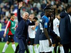 Deschamps a apprécié le match des siens. AFP