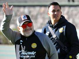 Diego Armando Maradona, au stade Universitario Alberto Chivo Cordova, à Toluca. AFP