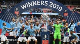 Manchester City, o melhor time do mundo. AFP