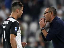 Sarri confessed he didn't know about Cristiano's troubles. AFP