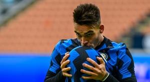 Lautaro Martínez deve ter contrato renovado com a Inter. AFP