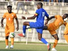 Kondogbia lors de la défaite de la Centrafrique 4-0 face à la Côte d'Ivoire. AFP