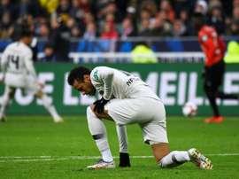 Neymar diz não ter sangue de barata. AFP