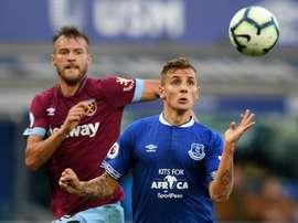 Le défenseur d'Everton Lucas Digne. AFP