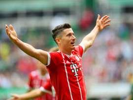 L'attaquant-vedette du Bayern Munich Robert Lewandowski. AFP