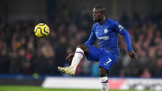 Kanté against Arsenal in January 2020. AFP