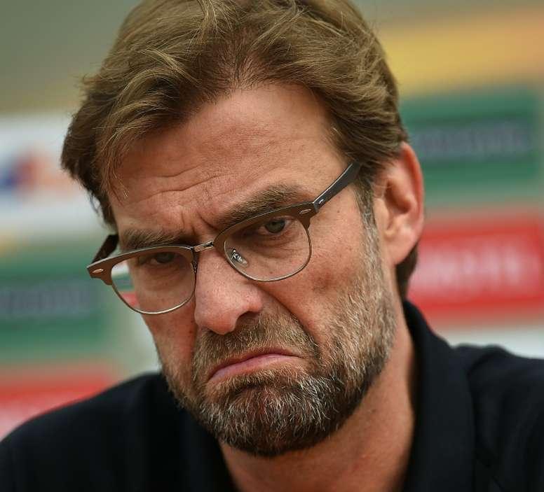 Le coach de Liverpool, et ancien entraîneur de Dortmund, Jürgen Klopp, en conférence de presse à Liverpool, le 13 mai 2016