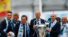 Los datos de Zidane en 199 encuentros como técnico del Real Madrid. AFP