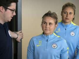 Christiansen has joined European Champions Lyon. AFP