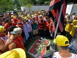 Le rêve brisé de 10 espoirs de Flamengo. AFP
