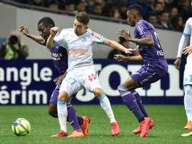Maxime López se mostró no ocultó que sueña con fichar por el Barcelona. AFP