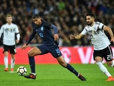 Loftus-Cheek avec lAngleterre face à l'Allemagne lors d'un match amical. AFP