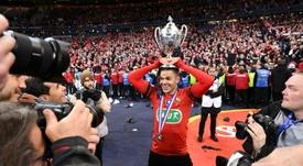 Hatem Ben Arfa vainqueur de la Coupe de France avec Rennes aux dépens du PSG, le 27 avril 2019. AFP