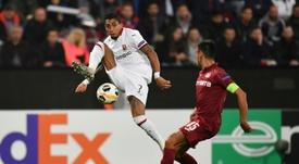 Ridículo galo en la Europa League. AFP
