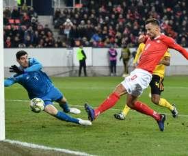 Un 'hat trick' de Severovic ha dejado a Bélgica sin 'Final Four'. AFP