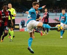 Dries Mertens permet aux siens de garder le leadership de Serie A. AFP