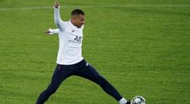 Tuchel a justifié l'absence de Mbappé dans le onze de départ face à Bruges. AFP