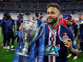 Neymar marcou o gol do título da Copa da França. AFP