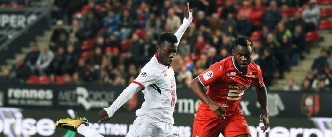 O Lille bateu o Metz por 0-3. AFP