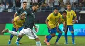 Thiago Silva cargó contra Messi. AFP