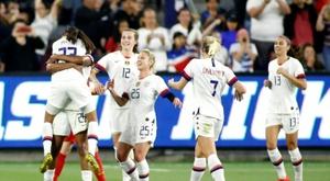 Les Américaines, championnes du monde en titre. AFP
