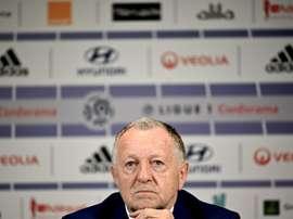 Aulas propose à la Ministre des Sports un calendrier de reprise. AFP