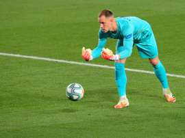 Chelsea and Inter Milan are interested in the Barca goalie. AFP