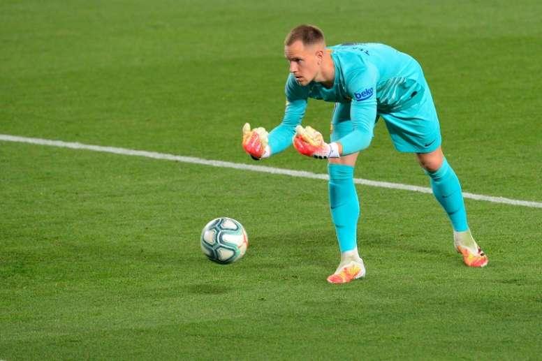 Ter Stegen will sign a renewal at Barca. AFP