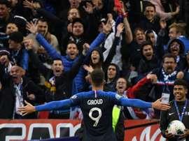 Giroud a trois buts de Michel Platini. AFP