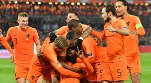 Les Pays-Bas vainqueurs de la France 2-0 à Rotterdam en Ligue des nations. AFP