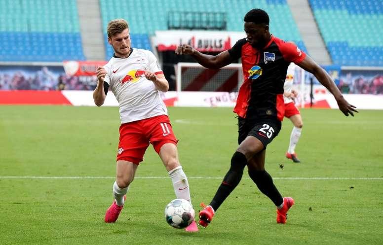 Prováveis escalações de Köln e RB Leipzig. AFP