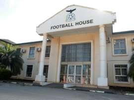 La façade de la fédération zambienne de football à Lusaka, le 30 mai 2015. AFP