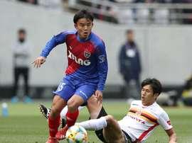 Takefusa Kubo est vu comme le Messi japonais. AFP
