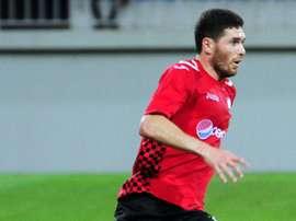 Le footballeur international azerbaïdjanais Javid Huseynov, le 23 juillet 2015 à Bakou. AFP