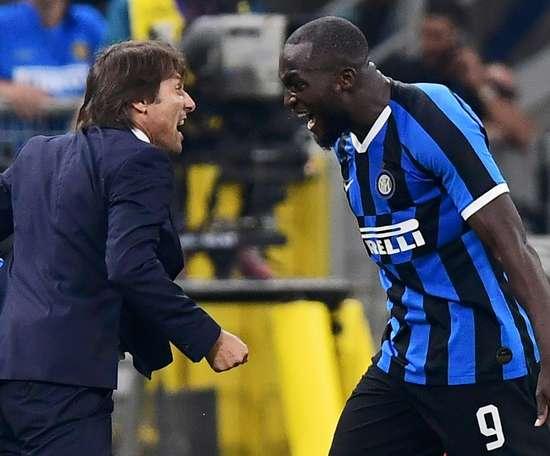 Inter supera Milan com Lukaku protagonista. AFP