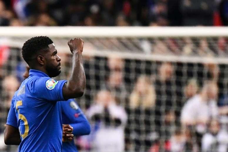 L'agent d'Umtiti en contact avec un club de Premier League. AFP