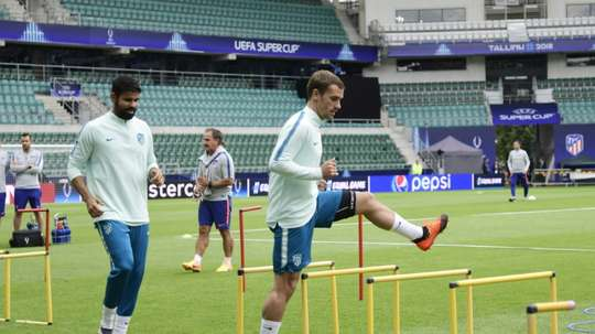 Diego Costa et Antoine Griezmann en leaders 'colchoneros'. AFP