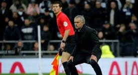 Mourinho discutiu com Danny Rose. AFP