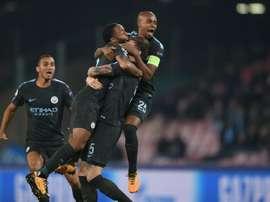 City venceu no San Paolo. AFP