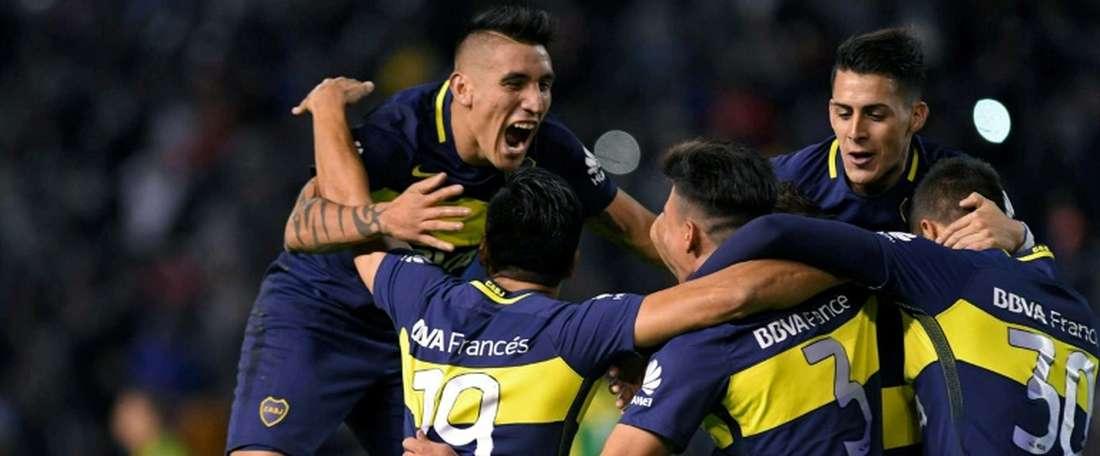 Boca derrotó a Unión en La Bombonera. AFP
