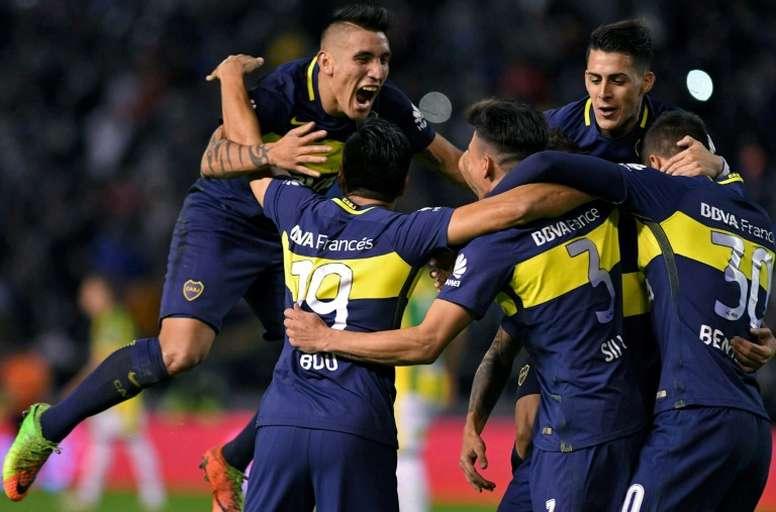 Boca se dejó empatar ante Olimpo. AFP