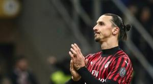 Ibrahimovic quittera l'AC Milan à la fin de la saison. AFP