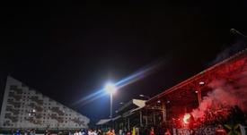 Red Star-Nice inversé, Allianz Riviera plutôt que le stade Bauer. AFP
