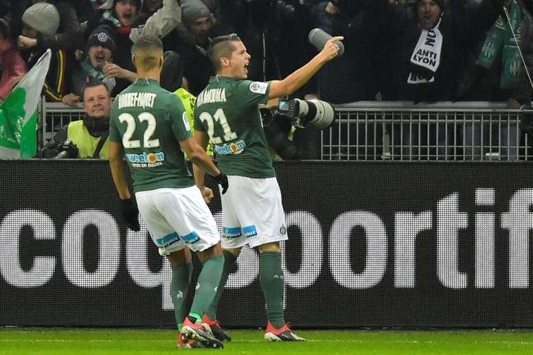 Les compos probables du match de Ligue 1 entre St Étienne et Strasbourg. AFP